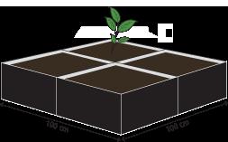 UGro Pot 60 на 1 кв метре