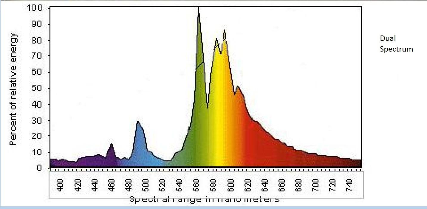 Cпектр лампы Sunmaster Dual